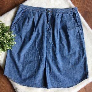 NWOT BANANA REPUBLIC Relaxed Chambray Pocket Skirt